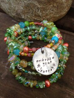 Embrace Your Journey five wrap memory wire by DFInspirations, $40.00
