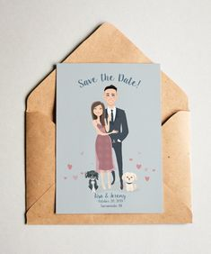 Image of Save the Date Cards Save The Date Karten, Save The Date Cards, Save The Date Illustrations, Wedding Illustration, Wedding Guest Book Alternatives, Letter A Crafts, Save The Date Magnets, Wedding Goals, Wedding Save The Dates