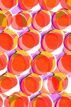 Orange collage spots Art Print