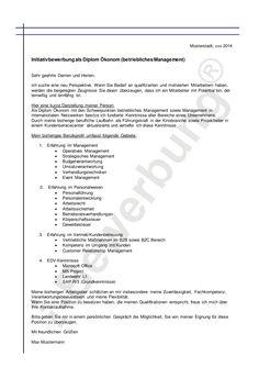muster anschreiben betriebliches management i bewerbung - Bewerbung Verkuferin Muster