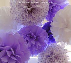 Pompones de Papel: Pompones para la Princesita Sofia