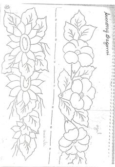 Border Embroidery Designs, Floral Embroidery Patterns, Diy Embroidery, Beading Patterns, Cross Stitch Embroidery, Tattoo Outline Drawing, Friends Sketch, Rose Stencil, Fabric Paint Designs
