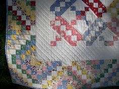 """Jacobs Ladder Quilt - """"Candy Ladder"""" - love the idea of making the label into a pocket in the back and adding a little stuffed animal inside!"""
