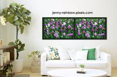 Carpet Of Purple Tulips. Diptych by Jenny Rainbow Purple Tulips, White Tulips, Fine Art Prints, Framed Prints, Fine Art Photography, Home Art, Love Seat, Carpet, Rainbow