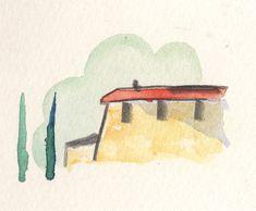 Tuscan sketch by Scott Jessop. Watercolour on paper.
