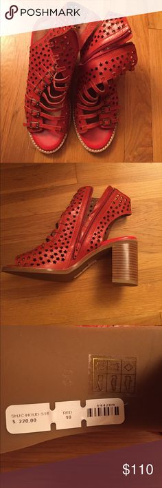 Jeffrey Campbell open toe red leather shoes Brand new Jeffrey Campbell open toe red leather shoes Jeffrey Campbell Shoes Platforms