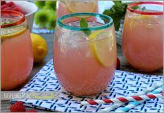 Raspberry Mint Lemonade | #GirlsNightIn