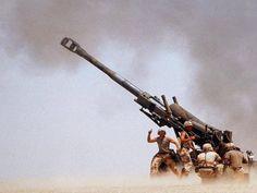American artillery fires. Gulf War, 1991.