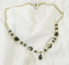 Cat's Eye Quartz and Labradorite Sterling Silver Chainmaille Necklace