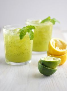 Cucumber lemon cooler.