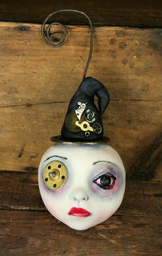 Witch Ornament by Michele Lynch Art