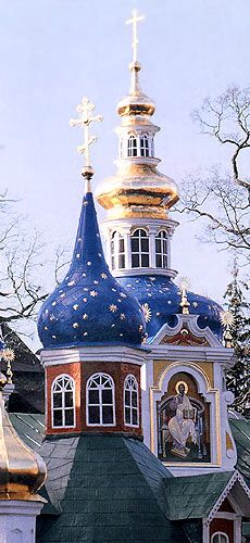 The Pskovo-Pechersky Dormition Monastery or The Pskov-Caves Monastery was founded in the 15th century on the place of the caves where some monks lived; since that times caves were used as treasury storage, the place of burial of monks and relics.