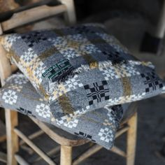coldatnight Welsh blanket cushions