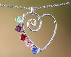 Cute heart ... would be nice with children's birthstones.