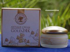 Locherber Antiage-Creme Gold 24K mit seidiger Textur und sofortiger Pflegewirkung wurde zur Feinmodellierung der Gesichtskonturen kreiert. Sie verleiht der Haut ein strahlend jugendliches Aussehen und
