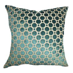 Cotton throw pillow with a down fill.   Product: PillowConstruction Material: Cotton cover and down fillCo...