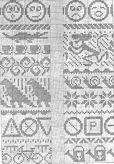 Knitting Charts, Knitting Stitches, Knitting Designs, Baby Knitting, Knitting Patterns, Fair Isle Chart, Fair Isle Pattern, Cross Stitch Pillow, Cross Stitch Borders