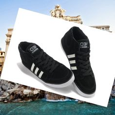 Adidas Originals Stile NEO Mid Scarpe da Uomo Nero/Bianco