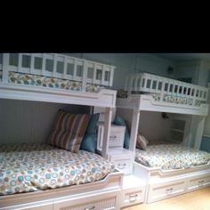 Double built in bunk beds  uploaded by original pinner - No link given - inspiration idea