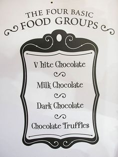 The four basic food groups. It's true.
