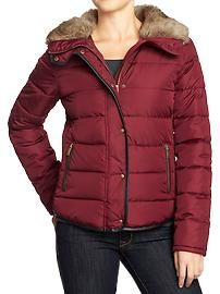 Womens Frost Free Faux-Fur Trim Jackets I have a black coat like this and it is so warm. Best Winter Coats, Old Navy Women, Holiday Fashion, Outerwear Women, Fashion Wear, Fur Trim, Frost, Faux Fur, Women Wear