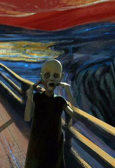 18 Awesome edvard munch the scream gif images Arte Horror, Horror Art, Real Horror, Edvard Munch, Animiertes Gif, Animated Gif, Le Cri Munch, Art Sinistre, Images Gif