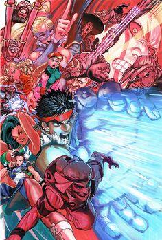Street Fighter V illustration by Yusuke Murata
