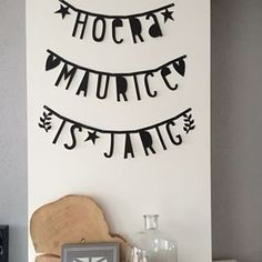 #Wordbanner #tip: Hoera Maurice is jarig - Buy it at www.vanmariel.nl - € 11,95