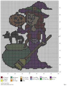 WITCH by AMY HILLIER - HALLOWEEN WALL HANGING