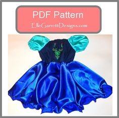 Pattern includes sizes 6 months - girls 12.    Create a wearable, comfortable princess dress for your little princess.    This listing is for