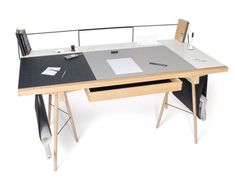 The Homework Desk by London-based designer Robin Grasby is a highly flexible work and storage station.