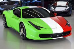 Ferrari 458 Italia Wrapped in Italian Flag Pictures