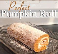 Perfect PumpkinRoll recipe with step by step photo instructions. http://threeladiesandtheirbabies.wordpress.com. #recipe #pumpkin #pumpkinroll