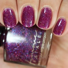 Femme Fatale Cosmetics The Necromancer   There & Back Again Collection   Peachy Polish