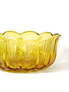 Vintage Amber Glass Bowl Anchor Hocking Fairfield by a2ndlife, $18.95