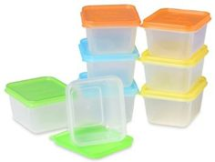 """Amazon.com: EasyLunchboxes """"Mini-Dippers"""" Small Dip and Sauce Containers, Leak-Resistant, Set of 8: Home & Kitchen"""