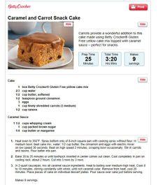 Caramel snack cake