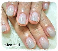 浜松市 中区 自宅ネイルサロン nico nail ニコネイル:上品グレーのグラデーションネイル