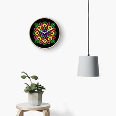 """Flower of Life Mandala"" Clock by Pultzar 