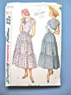 Vintage 1940s sewing pattern Simplicity 2510  Bust 34 by Fancywork, $10.00