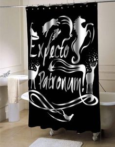 5575cb72bc3 Expecto patronum harry potter shower curtain customized design for home  decor