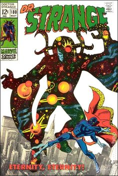 "Doctor Strange vol.1 #180, ""Eternity, Eternity!"" (May, 1969). Cover by Gene Colan & Steve Ditko."