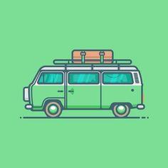 Who said work & travel don't mix?  #illustration #remotework #digitalnomad #workandtravel #vw #volkswagen #minibus #van #car #vehicle #automobile #graphicdesign #graphicdesigncentral #graphicgang #iconaday #icondesign #icon #graphicroozane #pirategraphic #designarf #illustree #illustrationoftheday #toptal by dandragomir
