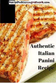 A lot of Panini sandwich recipes seem to feature cheese, although it is not necessary and you can always leave it out if you do not want to use it. Cheese is often added because it will melt and help to stick the Panini together. It does not soak into the bread and make it soggy, it simply melts over the surface of the bread. The following recipe features goat cheese which is always a lovely ingredient to use. You will also be using basic pesto and tomatoes for a lovely Italian flavor. Panini Bread, Panini Sandwiches, Italian Recipes, New Recipes, Italian Panini, Panini Recipes, Paninis, Plum Tomatoes, Seafood Dishes