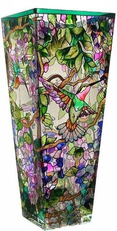 Amia 10-Inch Tall Hand-Painted Glass Vase Featuring Hummingbirds and Wisterias by Amia, http://www.amazon.com/dp/B0040H8MV8/ref=cm_sw_r_pi_dp_clIWrb0EFWSDR