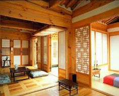 Hanok Houses from Bukchon Hanok Village in Seoul, Korea Asian Interior, Japanese Interior Design, Interior And Exterior, Traditional Interior, Traditional House, Republik Korea, Asian House, Architecture Design, Bedrooms