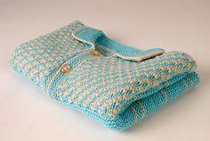 Free Pattern: Baby Cardigan - Stripes and Fleurettes by Zabeth Loisel-Weiner