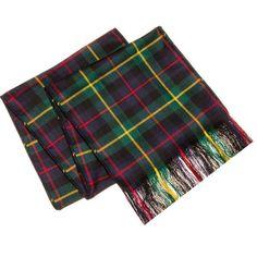 Clan Tie Burnett Modern Tartan Pure Wool Scottish Handmade Necktie