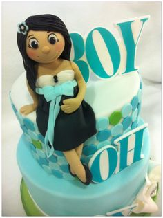Hot Mamas Cakes Boy oh Boy Baby shower cake