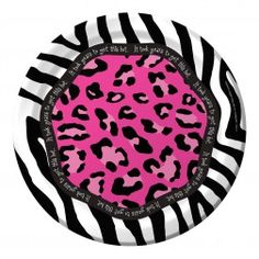 of 9 inch round Forty-Licious birthday party plates. Keep 40 fresh with this lime green, zebra and leopard print party ensemble. Find all of your birthday party supplies right here at Party on Happy Birthday 40, 40th Birthday Parties, Birthday Celebration, Girl Birthday, Leopard Print Party, Pink Leopard Print, Party Plates, Dinner Plates, Purple Zebra